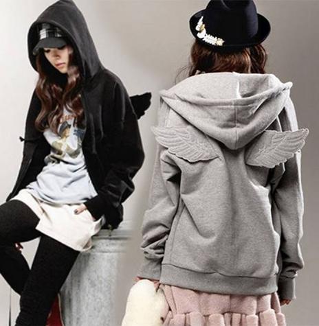 เสื้อกันหนาว ฮู้ดดี้ มีปีก เกาหลีสุดๆ น่ารัก เลือกสีที่พร้อมส่งด้านในเลยค่ะ