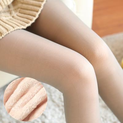 Legging เลกกิ้งกันหนาว สีเทาซีทรู ใส่แล้วเห็นสีเนื้อด้านในที่เป็นขนหนานุ่ม ด้านนอกเป็นผิวแบบถุงน่อง ยืดได้เยอะ กระชับทรง คลุมส้นเท้า พร้อมส่งเลยจ้า