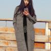 สีเทา ยาว 34 นิ้ว : เสื้อคลุมกันหนาว ไหมพรม พร้อมส่ง เรียบหรู ดูดี