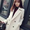 XL : CLASSIC WHITE COAT [ เสื้อโค้ท กันหนาว สีขาว ] พร้อมส่ง