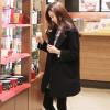 XXL : เสื้อโค้ทกันหนาว สีดำ ทรงสวย ใส่ได้หลายแบบ ผ้าดีบุซับในกันลม