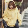 สีเหลืองอ่อน : เสื้อกันหนาว กันแดด ฮู๊ดดี้ เนื้อนุ่มม๊ากมากก ทรงปีกค้างคาว น่ารัก พร้อมส่งค่ะ