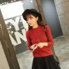 สีแดง : Sweater เสื้อไหมพรมคอเต่า เนื้อละเอียด ผ้านุ่ม ไม่หนา ยืดได้เยอะ พร้อมส่ง