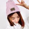 สีชมพูอ่อน : หมวกไหมพรม ทรงยอดฮิต หลากสี เกาหลีสุดๆ