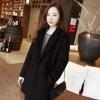 L: เสื้อโค้ทกันหนาว สไตล์เกาหลี ทรงสวย Classic ผ้าสำลีบุซับในกันลม สีดำ พร้อมส่ง