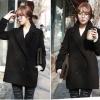 XL : CLASSIC BLACK COAT เนื้อหนานุ่ม บุซับใน [ เสื้อโค้ท กันหนาว สีดำ ] พร้อมส่ง