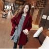 M: เสื้อโค้ทกันหนาว สไตล์เกาหลี ทรง Classic ผ้าสำลีเนื้อเบา ไม่หนา บุซับในกันลม สีไวน์แดง พร้อมส่ง