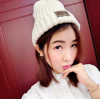 สีขาวครีม : หมวกไหมพรม ทรงยอดฮิต หลากสี เกาหลีสุดๆ