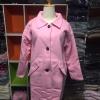 Size : M สีชมพูพาสเทล เสื้อโค้ทกันหนาว ทรงเก๋ ไม่เหมือนใคร บุซับในกันลม สีชมพู ผ้าวูลมีซับใน