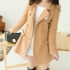 LADY CAMEL WOOLEN COAT | M