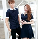 พร้อมส่ง - ชุดคู่รัก เสื้อโปโล+เดรส คู่รักสไตล์เกาหลี แนวสปอร์ต เนื้อผ้าใส่สบาย ราคาเป็นคู่แล้วค่ะ