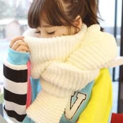 ผ้าพันคอกันหนาว ไหมพรม เกาหลี สีขาว เข้าได้กับทุกชุด พร้อมส่ง