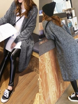 เสื้อคลุมกันหนาว ยาว 36 นิ้ว ไหมพรม เกาหลีสุดๆ พร้อมส่ง ดูดีเหมือนแบบ ใครชอบแนวเกาหลีๆ จัดเลยนะคะ