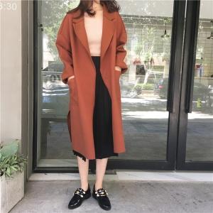 เสื้อโค้ทคลุม สไตล์เกาหลี ผ้าดีทิ้งตัวมีน้ำหนัก กันลมได้ดี เหมาะใส่ไปอากาศไม่หนาวมาก ใส่แล้วเกาหลีสุดๆไปเลย