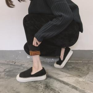 กางเกงขายาวผ้าขนกันหนาว ขนสั้นทั้งด้านในและด้านนอก อุ่นและนุ่มมากๆๆๆๆ ทรงสวย