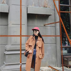 OverCoat เสื้อโค้ทกันหนาว สไตล์เกาหลี แต่งดีเทลเยอะ ทรงโคล่งสีน้ำตาล ผ้าวูลผสมเนื้อดี บุซับในกันลม พร้อมส่ง