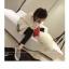 เสื้อกันหนาว ผ้าสำลีสีขาวเนื้อนุ่ม บุซับใน จั๊มแขนไหมพรม พร้อมส่ง thumbnail 12