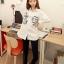เสื้อเชิ้ต แฟชั่น ลายมิกกี้เม้าส์ น่ารัก ผ้าเทโร (ผ้าเหมือนเสื้อ นร.) thumbnail 1