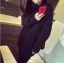 เสื้อไหมพรมคอเต่า ตัวโคล่ง สีดำ ยืดได้เยอะ ใส่เดี่ยวไหรือใส่โค้ทคลุมก็สวยจ้า thumbnail 1